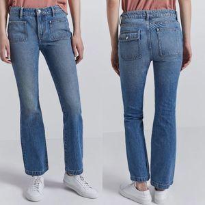 Current/Elliott Cropped Boocut Fairwater Jeans 27